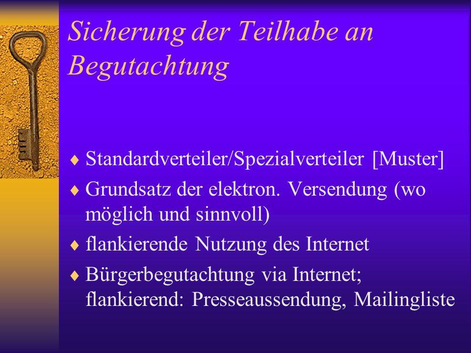 Frühzeitige Qualitätssicherung durch Vorbegutachtung Beiziehung von VD- Legisten im Fall dezentral organisierter Legistik a) bei Konzepts- erstellung ; b) durch Vorbe- gutachtung.