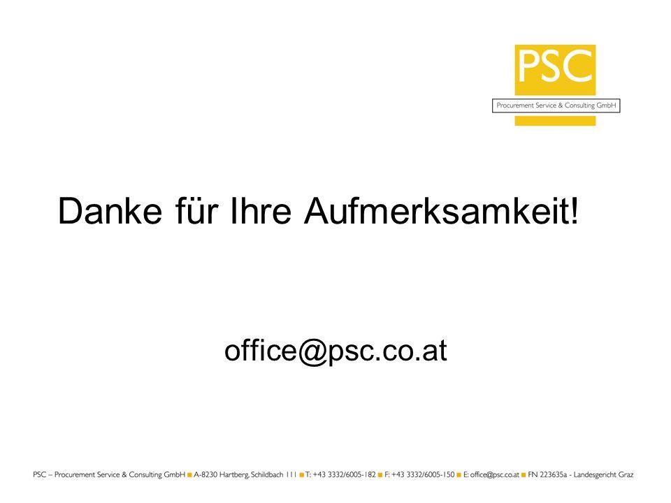 Danke für Ihre Aufmerksamkeit! office@psc.co.at