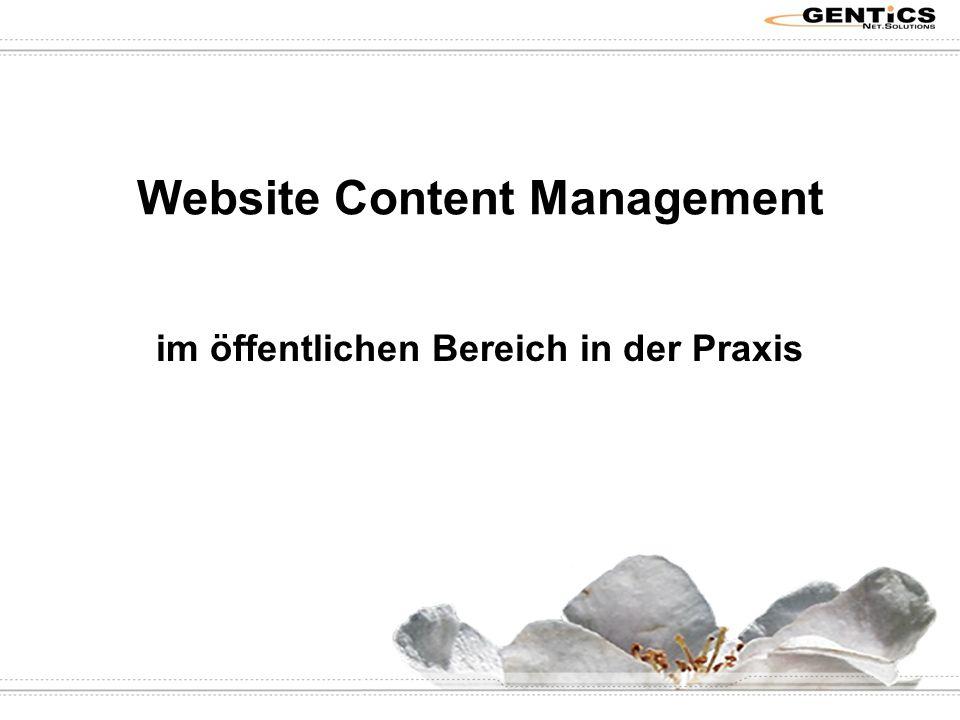 Website Content Management im öffentlichen Bereich in der Praxis