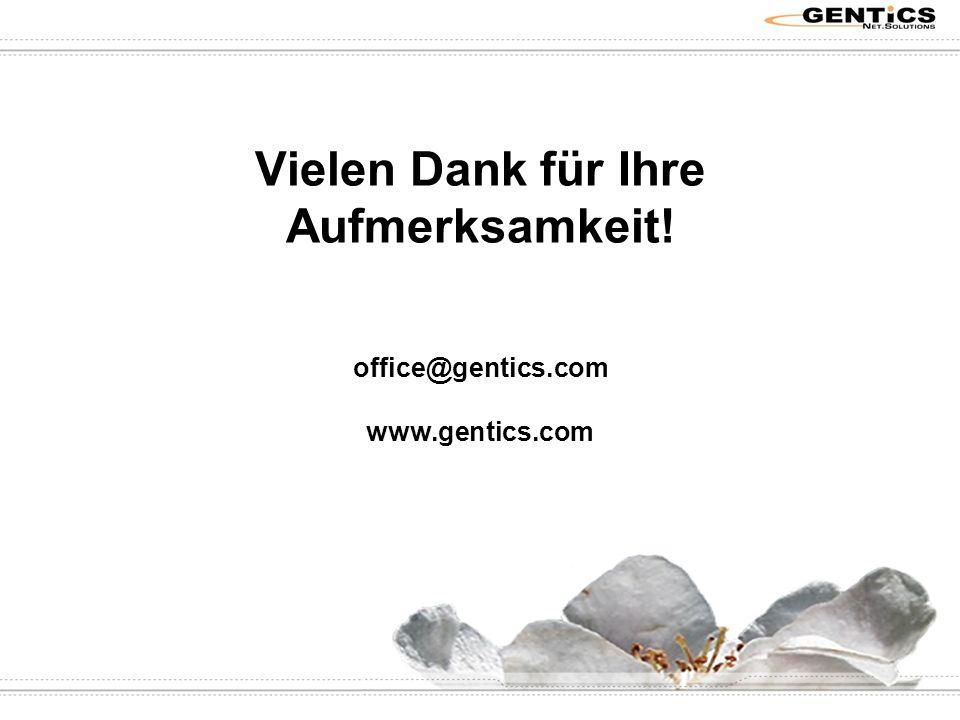 Vielen Dank für Ihre Aufmerksamkeit! office@gentics.com www.gentics.com