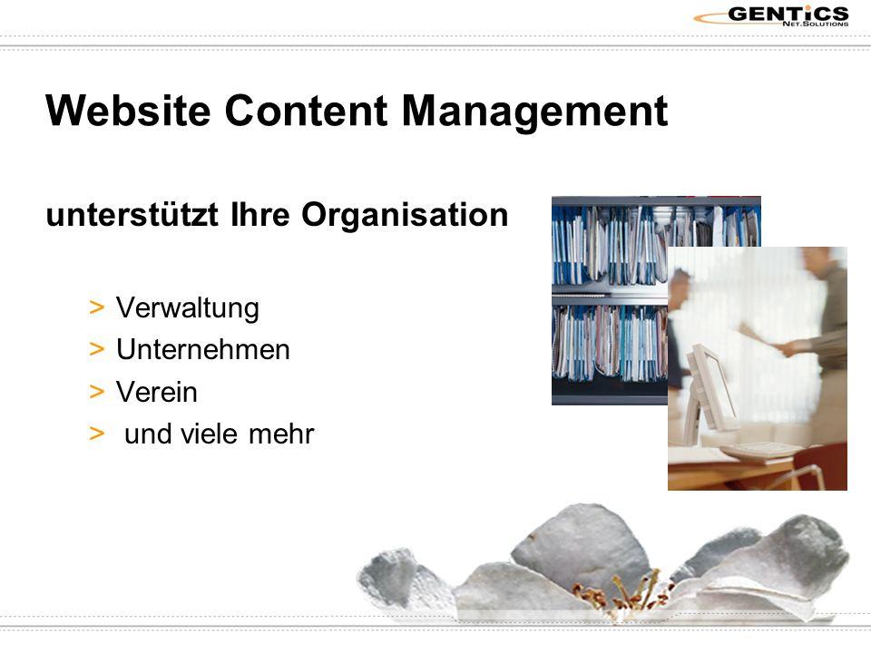 Website Content Management unterstützt Ihre Organisation >Verwaltung >Unternehmen >Verein > und viele mehr