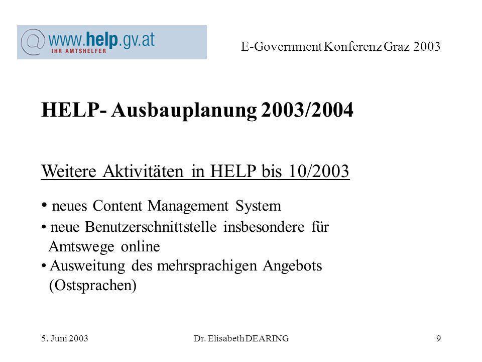 5. Juni 2003Dr.