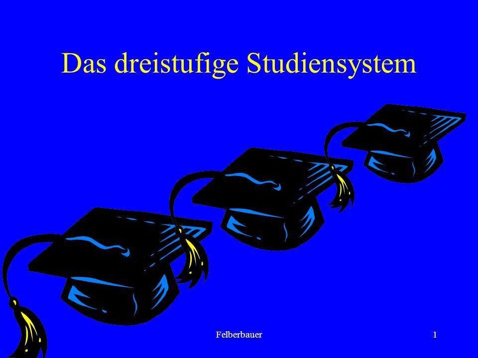 Felberbauer1 Das dreistufige Studiensystem