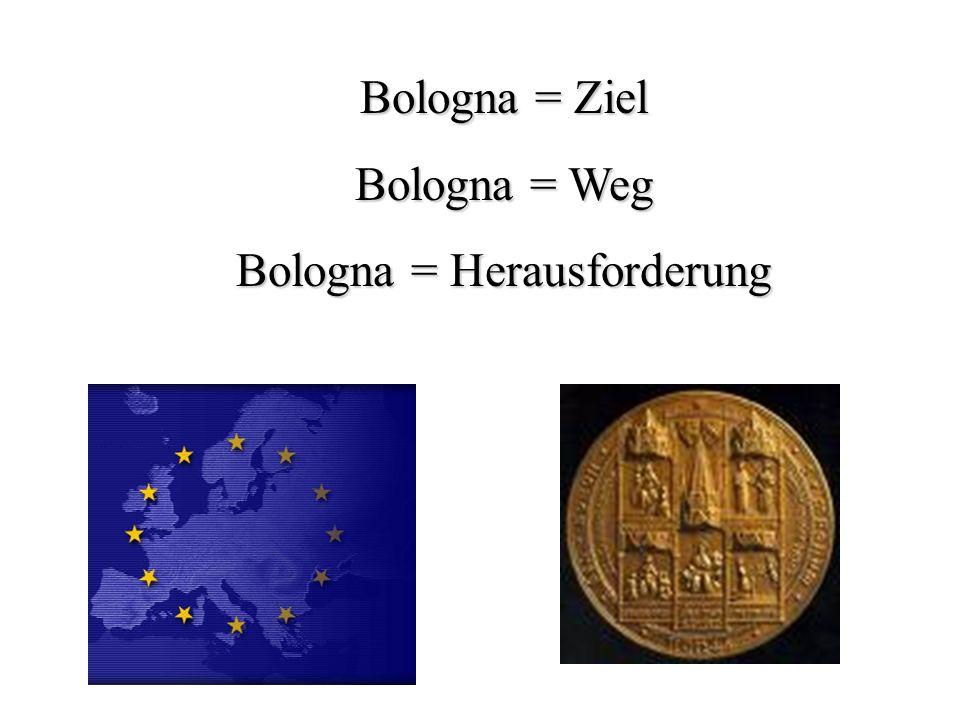 Felberbauer15 Bologna = Ziel Bologna = Weg Bologna = Herausforderung
