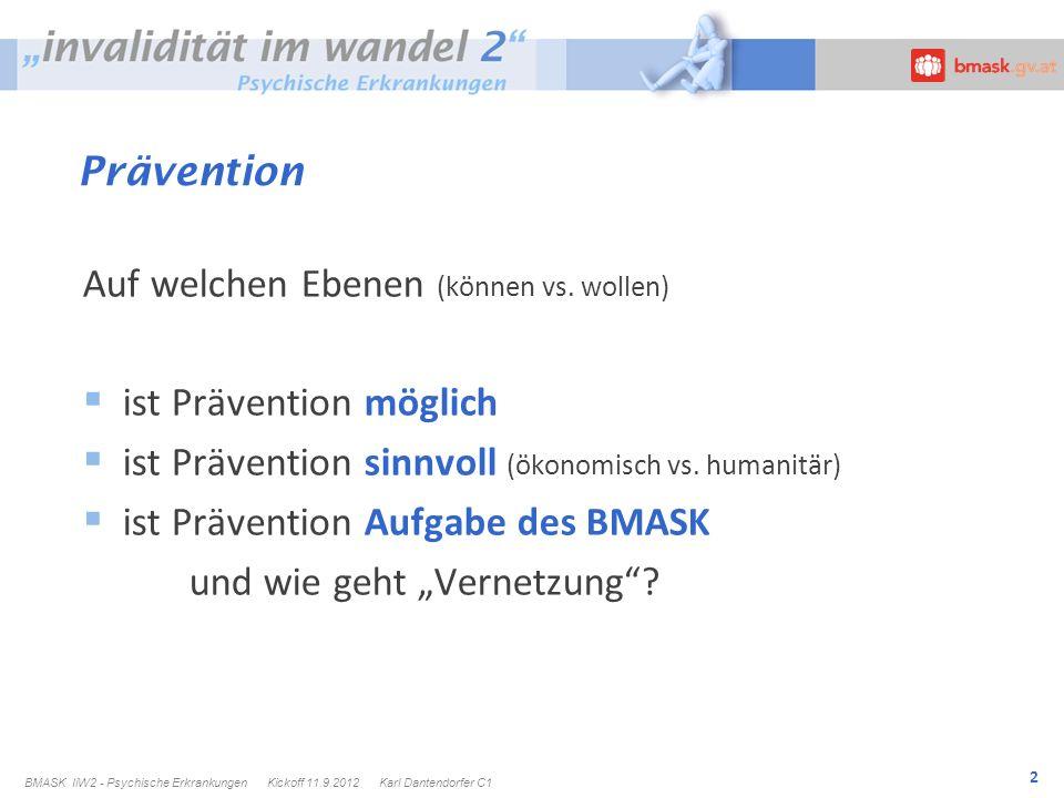 3 Prävention Primär Sekundär Tertiär Wo wie intensiv ansetzen .