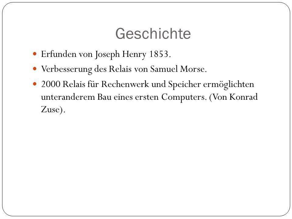 Geschichte Erfunden von Joseph Henry 1853.Verbesserung des Relais von Samuel Morse.
