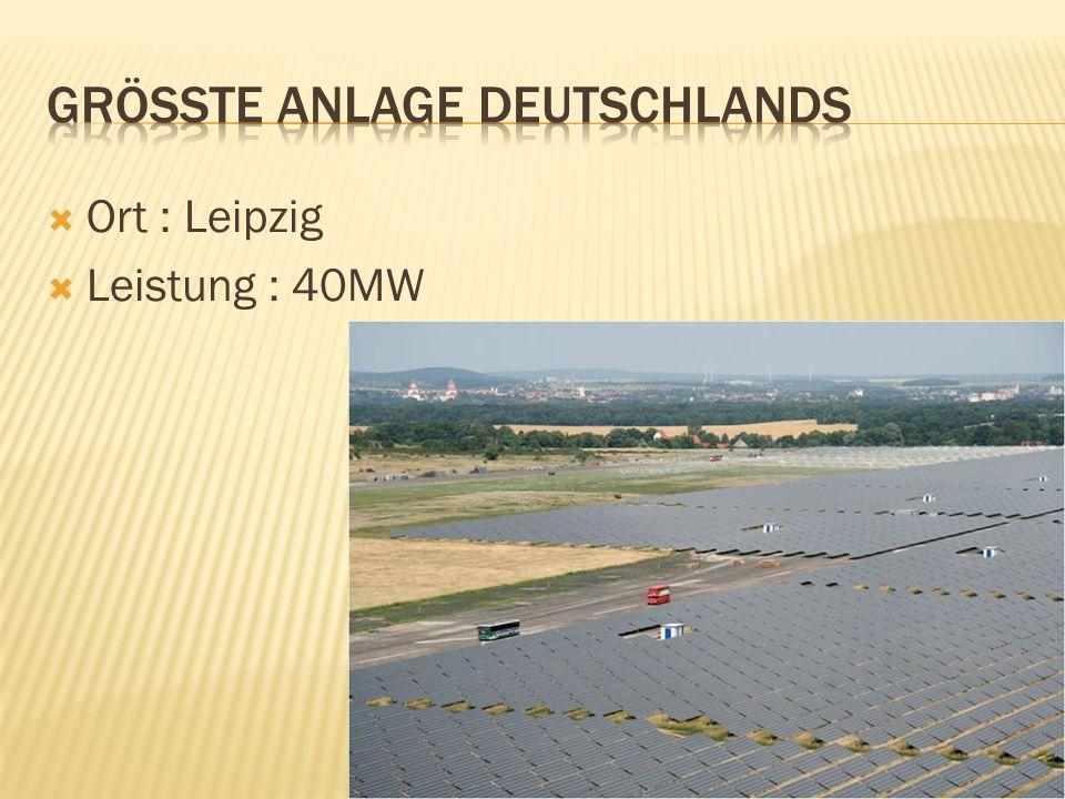 Ort : Leipzig Leistung : 40MW
