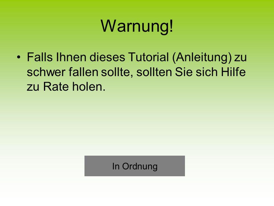 Warnung.