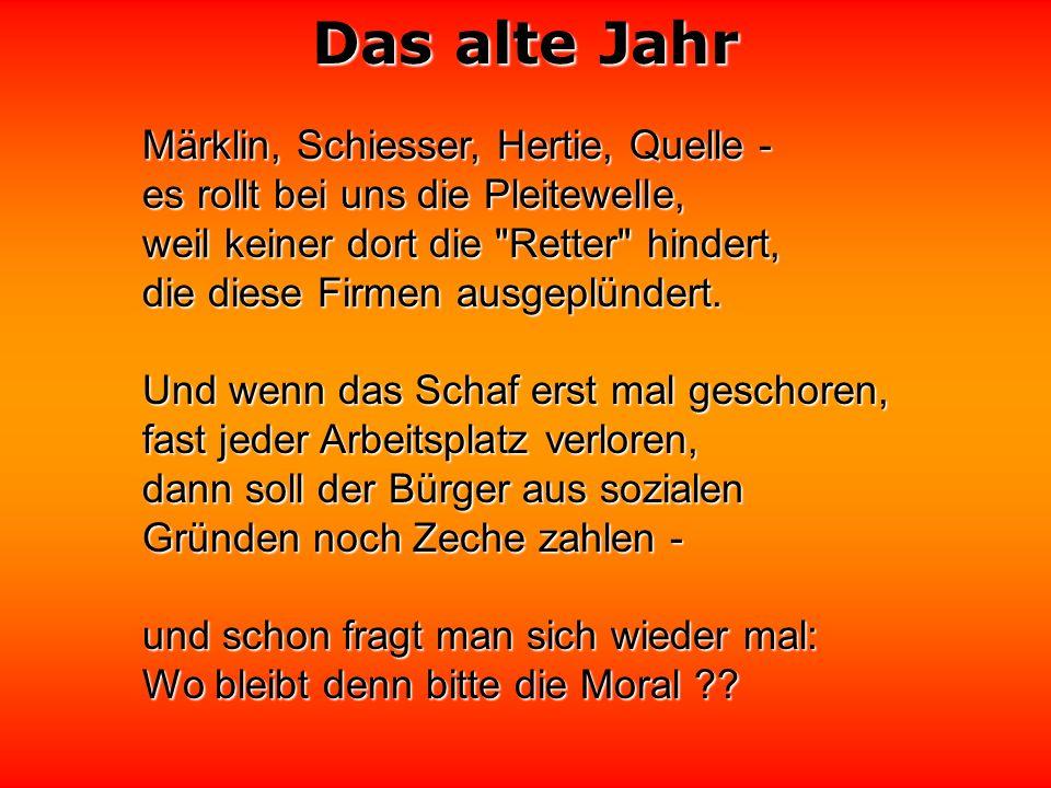 Das alte Jahr Als Dorn im Fleisch der Neider schmerzt von Guttenberg, weil er beherzt und klug und aufrecht, ehrlich ist - oh nein, der passt den Neid