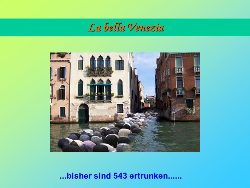 La bella Venezia Da es in Venedig keine Moscheen gibt, hat die Regierung den italienischen Moslems erlaubt, in den Strassen zu beten