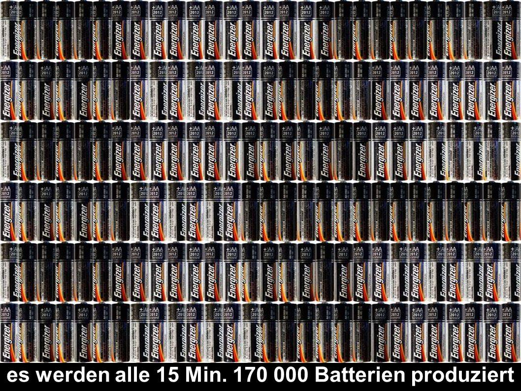 es werden alle 15 Min. 170 000 Batterien produziert