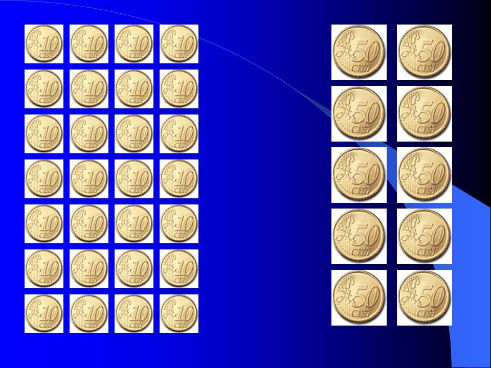 Zahlenbeispiele Anzahl 50 Ct Geldbetrag Anzahl 10 Ct Geldbetrag Gesamtbetrag Beispiel 1 20 20 * 50 Ct 160 - 20 (160 –20)*10 Ct 20*50+(160-20)*10 |Ct 10 + 14 = 24 Beispiel 2 22 22 * 50 Ct 160 - 22 (160 –22)*10 Ct 22*50+(160-22)*10 |Ct 11 + 13,8 = 24,8