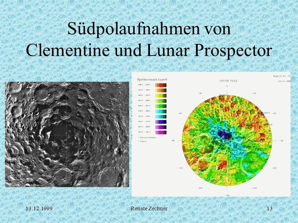 13.12.1999Renate Zechner13 Südpolaufnahmen von Clementine und Lunar Prospector
