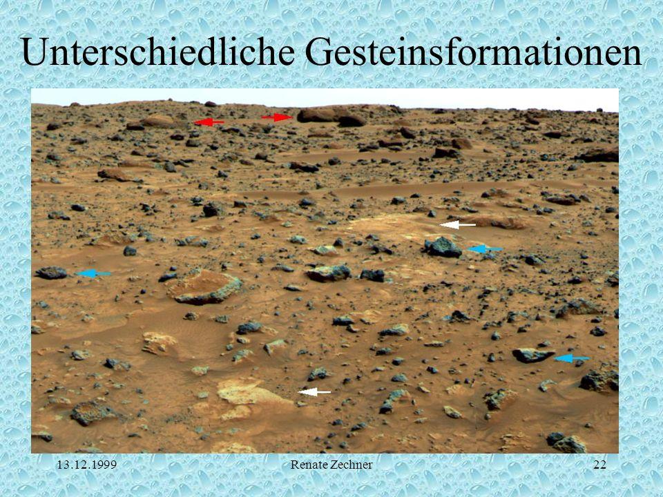 13.12.1999Renate Zechner22 Unterschiedliche Gesteinsformationen