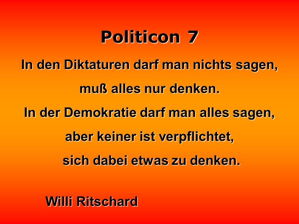 Politicon 7 Politische Prognosen sind wie Wettervorhersagen: alle halten sich daran, nur das Wetter nicht.
