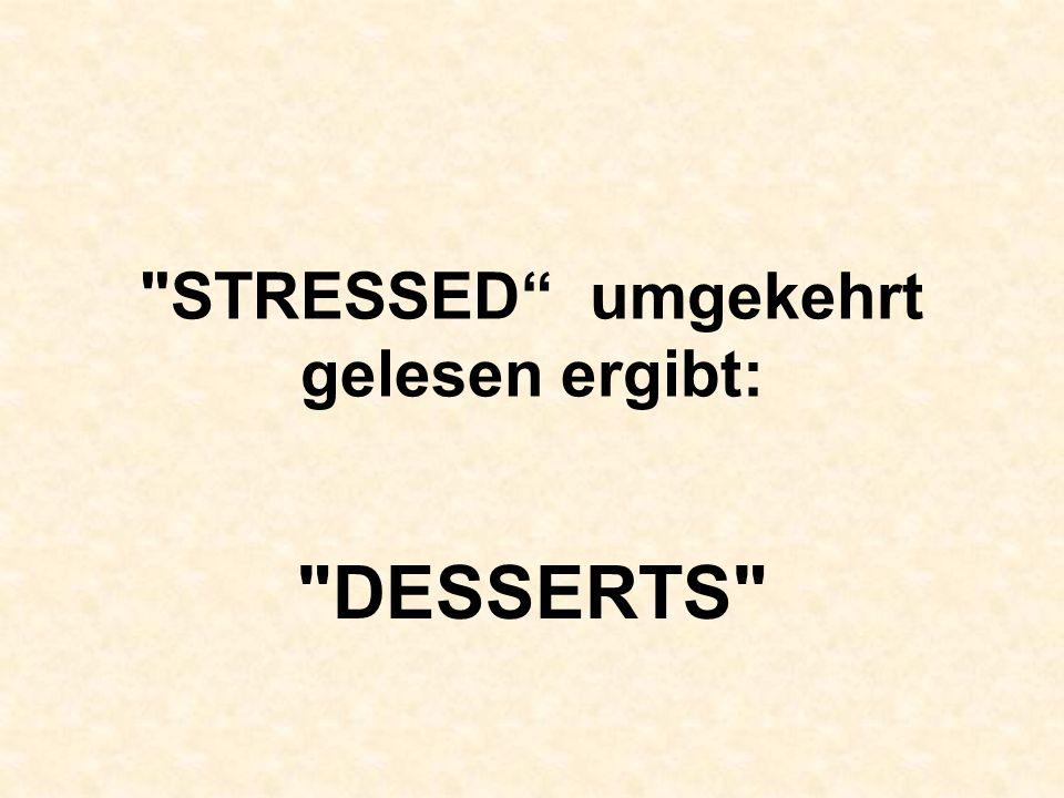 Schockolade ist gut gegen Stress Denk daran :