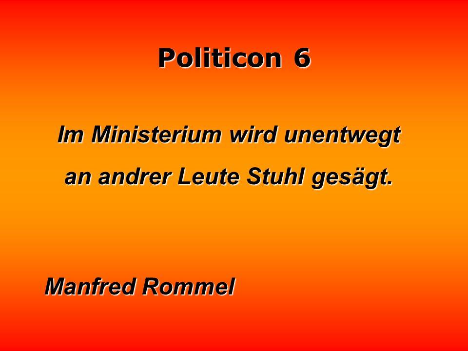 Politicon 6 Subventionen sind politische Beschwichtigungsmittel. Lothar Schmidt