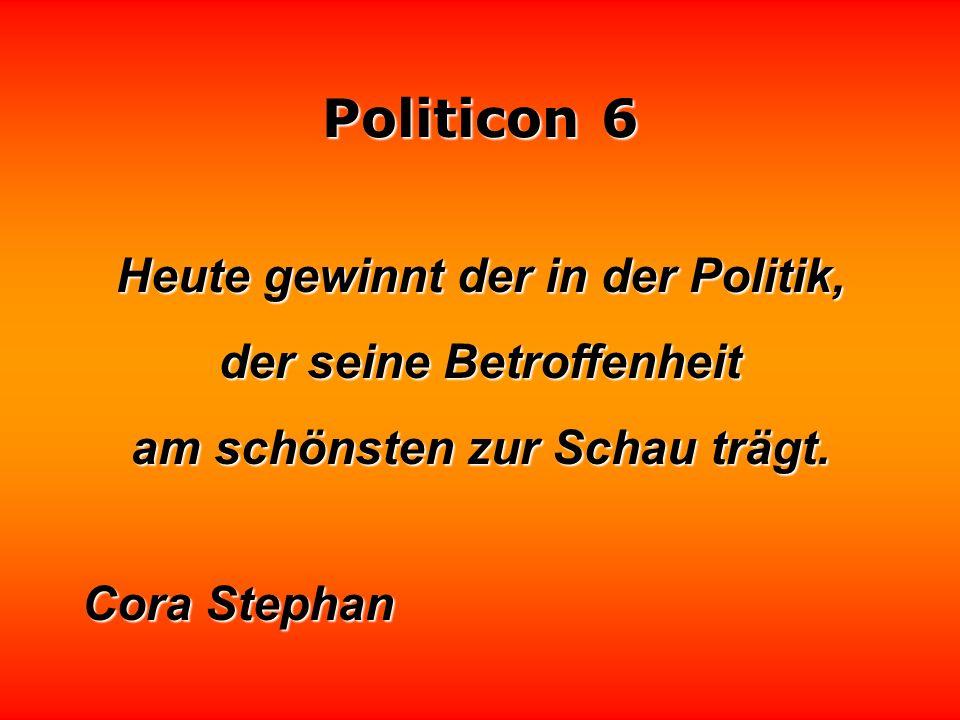 Politicon 6 Die Einsetzung einer Kommission erlaubt es, ein Problem auf ehrenvolle Weise vom Tisch zu bekommen, ohne es zu lösen. Manfred Rommel