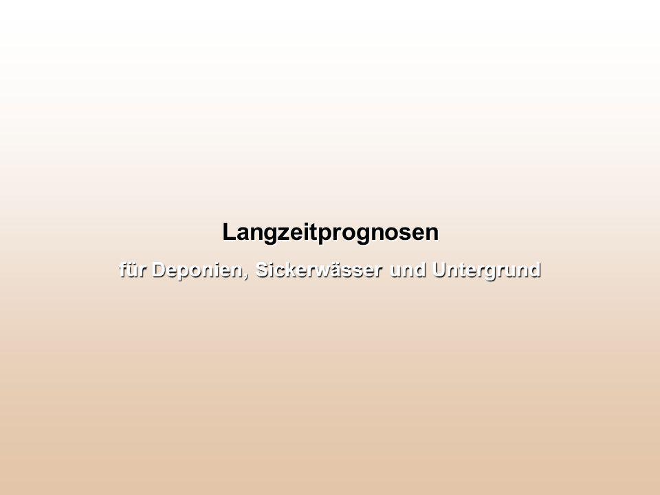 Langzeitprognosen für Deponien, Sickerwässer und Untergrund