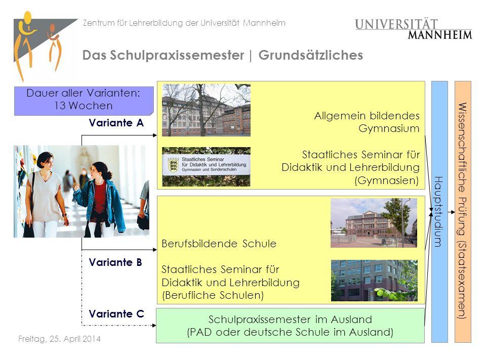 Zentrum für Lehrerbildung der Universität Mannheim Freitag, 25.
