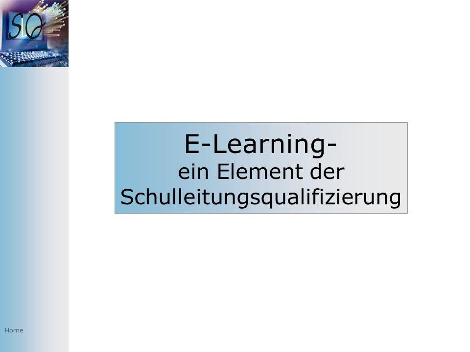 Home E-Learning- ein Element der Schulleitungsqualifizierung