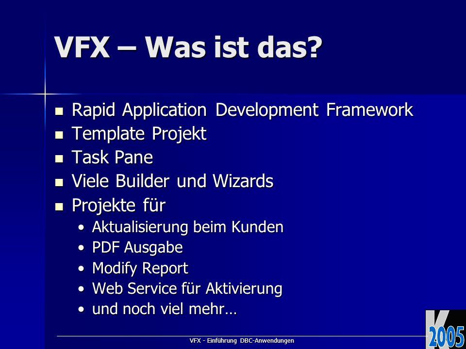 VFX - Einführung DBC-Anwendungen VFX – Was ist das.