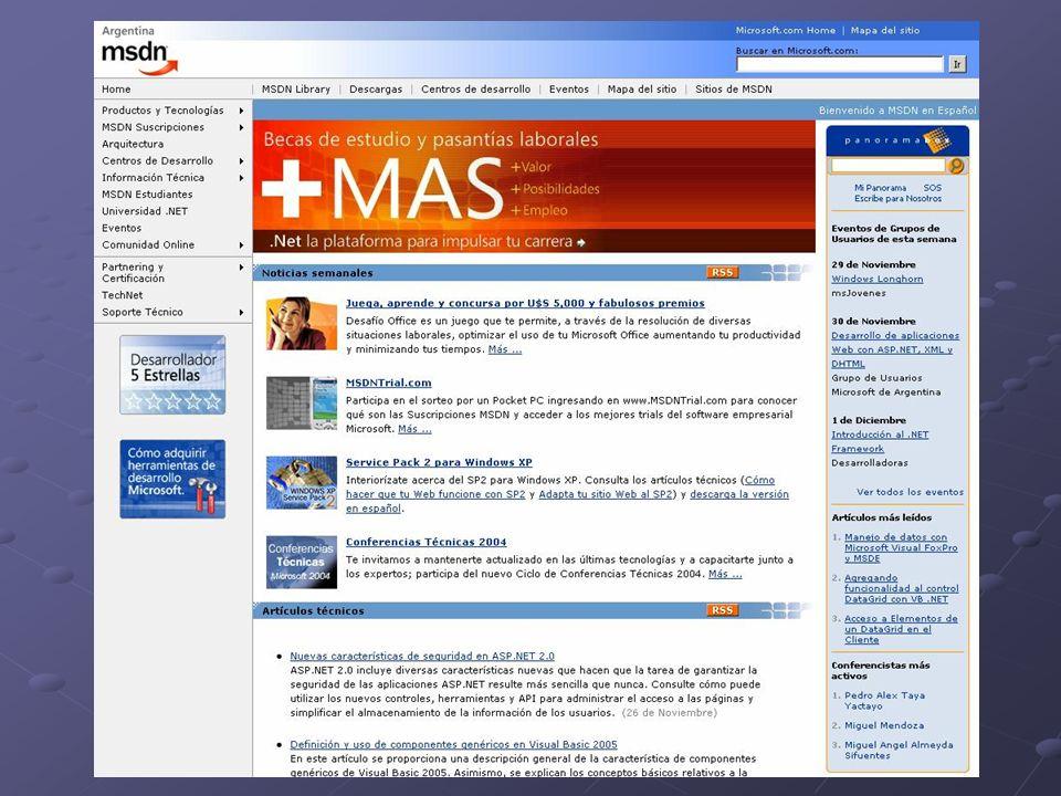 Neue Angebote für Entwickler Codezone (http://www.codezone.info) http://www.codezone.info Panoramabox (nur in Spanisch, http://www.panoramabox.com) http://www.panoramabox.com Channel 9 (http://channel9.msdn.com) http://channel9.msdn.com Learn 24 7 (http://www.learn247.net) http://www.learn247.net msdn Product Feedback Center (Ladybug, zurzeit nur für VS 2005, http://lab.msdn.com/productfeedback) http://lab.msdn.com/productfeedback