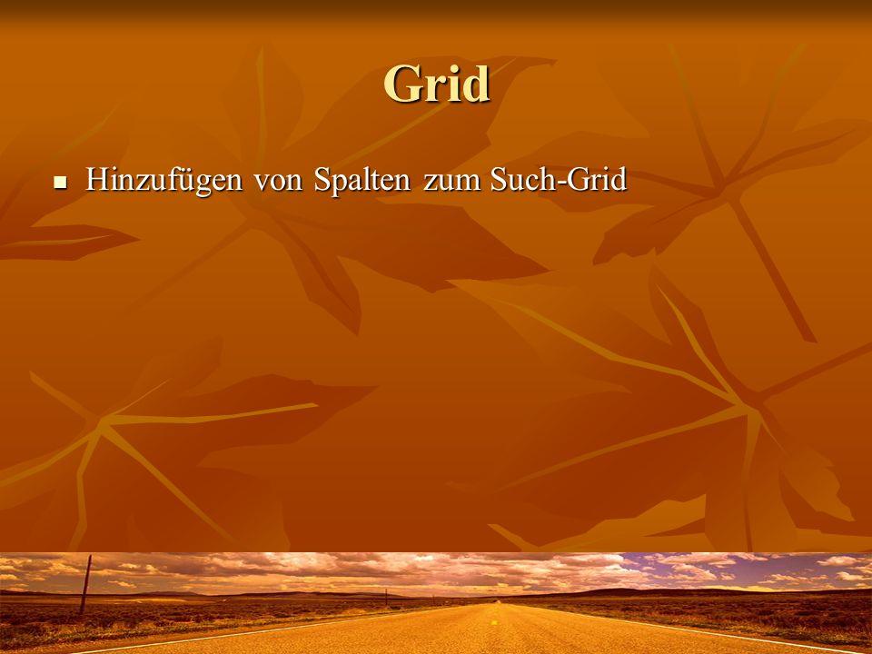 Grid Hinzufügen von Spalten zum Such-Grid Hinzufügen von Spalten zum Such-Grid