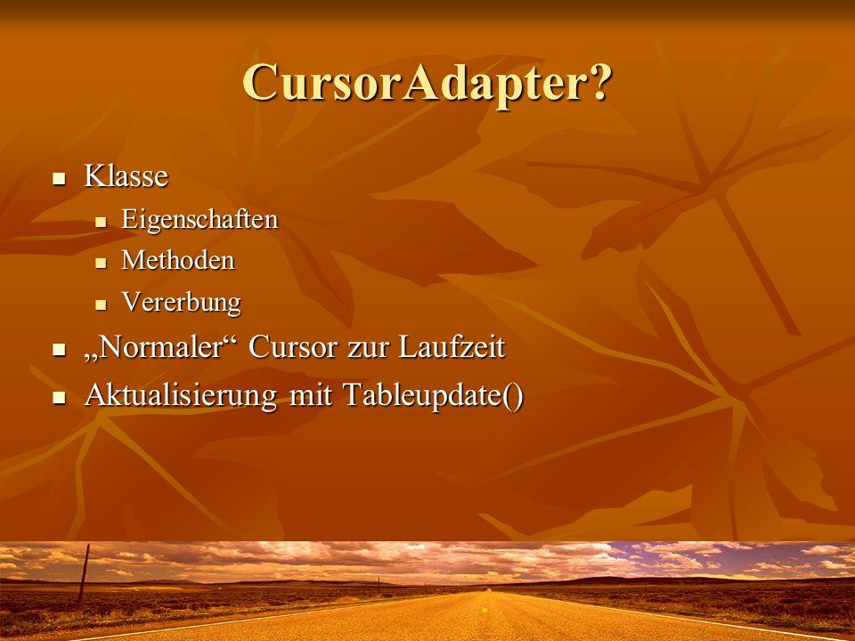 CursorAdapter.