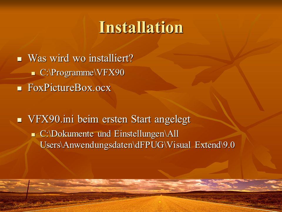 Installation Was wird wo installiert. Was wird wo installiert.