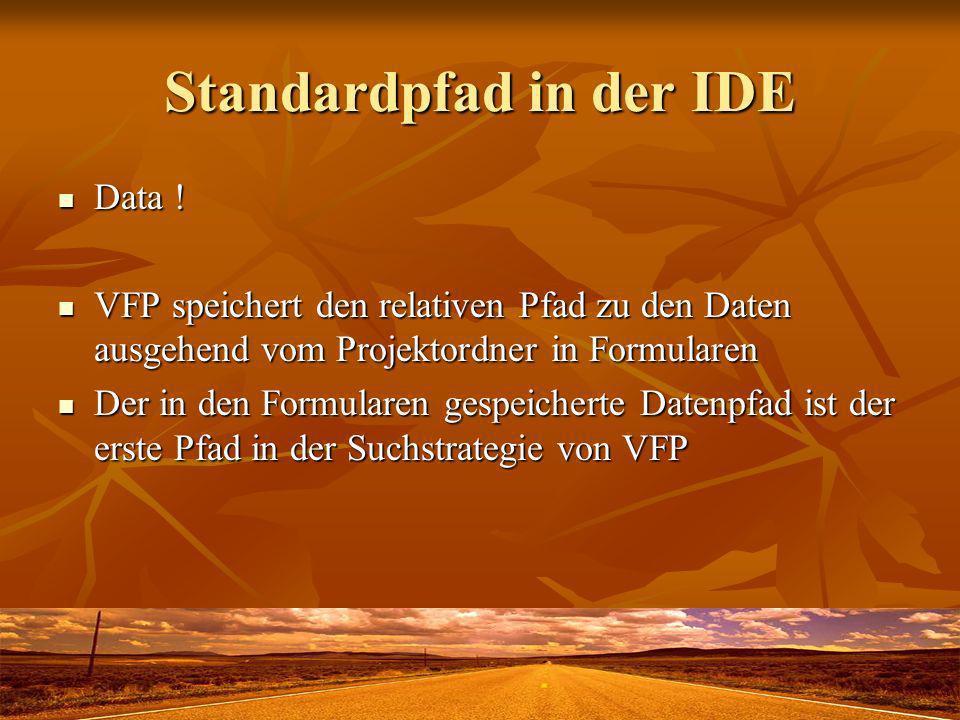 VFXPath.dbf Pfad zur Datenbank Pfad zur Datenbank Aktualisierungspfad Aktualisierungspfad Pfad zu Berichtsdateien Pfad zu Berichtsdateien Pfad zu VFX-Tabellen Pfad zu VFX-Tabellen Pfad DATA beim Kunden nicht verwendbar.