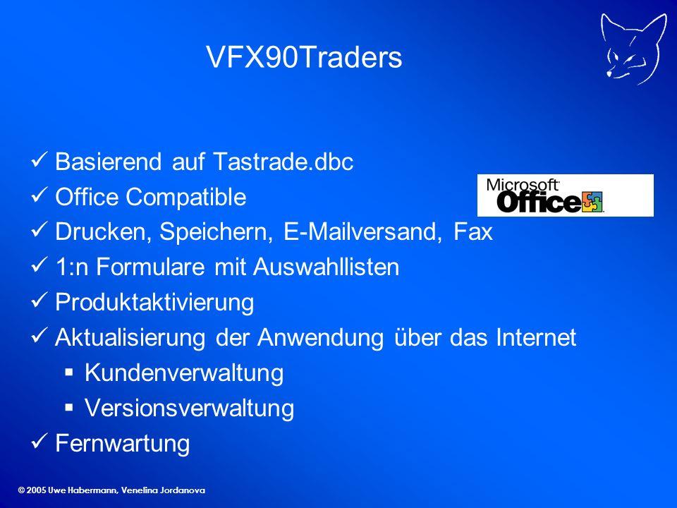 © 2005 Uwe Habermann, Venelina Jordanova VFX90Test Benutzergruppen Dokument-Container COneToManyPageFrame Geschäftsgrafiken mit CBusinessGraph Menü Extras