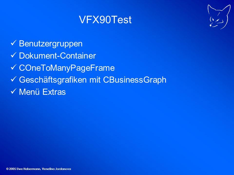 © 2005 Uwe Habermann, Venelina Jordanova Links Download und Infos zu VFX: www.visualextend.de Mehr Infos zu VFX: www.my-vfx.de Kostenloser Support zu VFX: news.dfpug.de