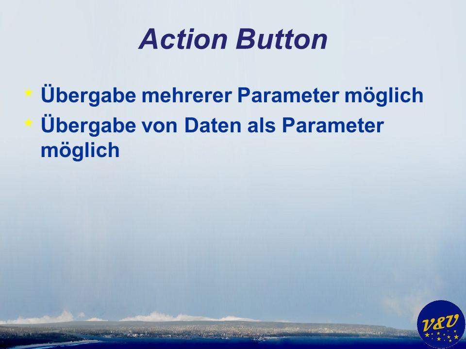 Action Button * Übergabe mehrerer Parameter möglich * Übergabe von Daten als Parameter möglich