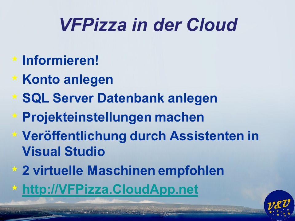 VFPizza in der Cloud * Informieren.