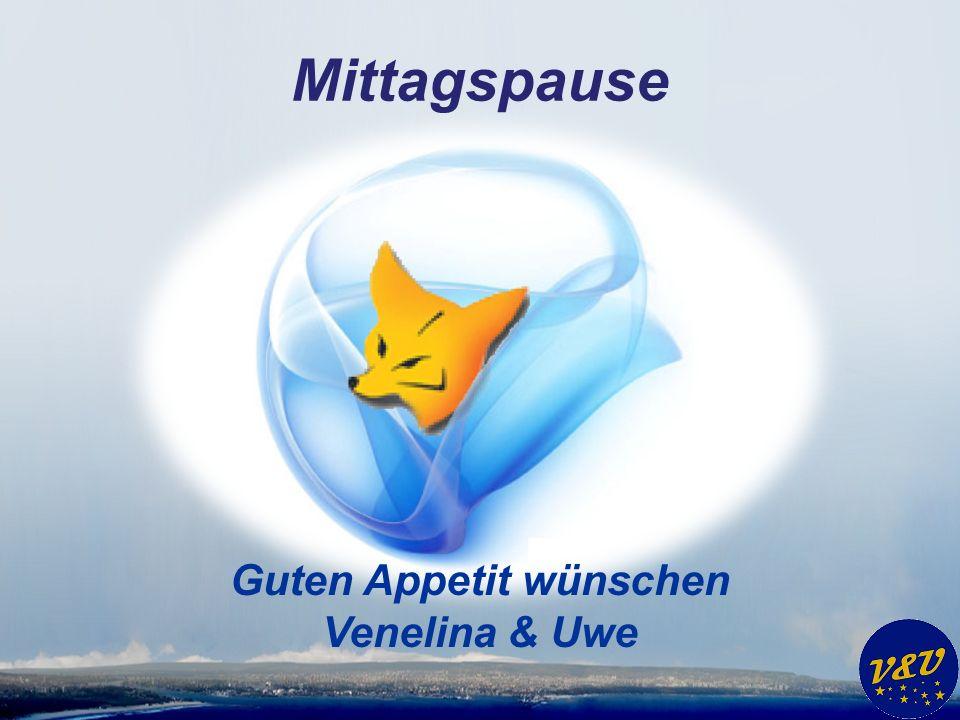 Mittagspause Guten Appetit wünschen Venelina & Uwe