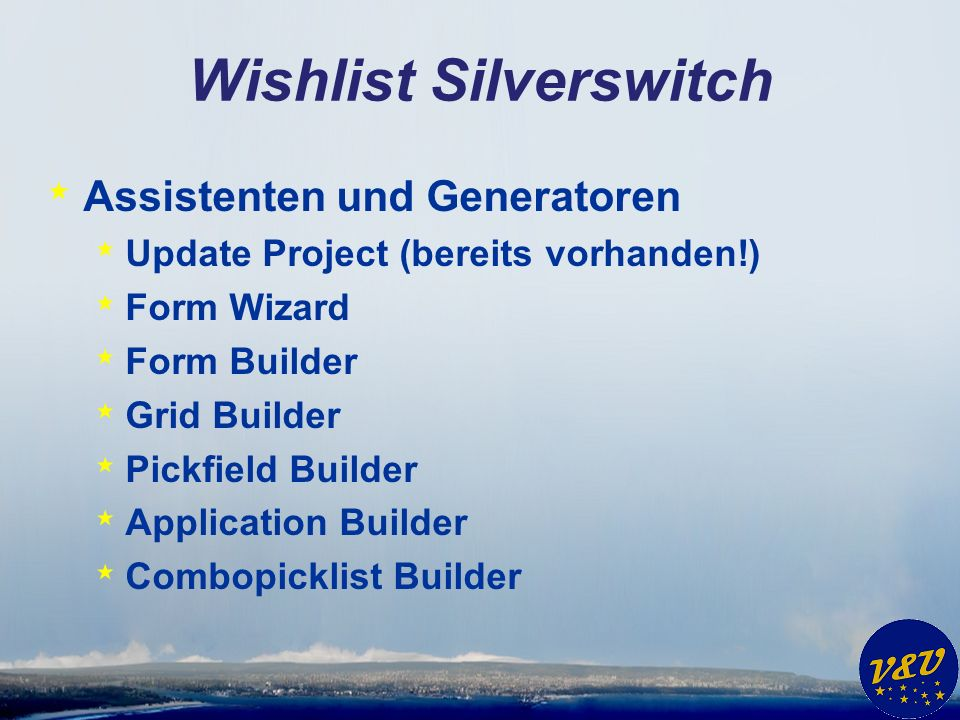 Wishlist Silverswitch * Assistenten und Generatoren * Parent/Child Builder
