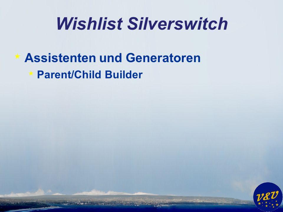 Wishlist Silverswitch * Andere Benutzeroberflächen * Patient Monitoring * Multitouch * SDI