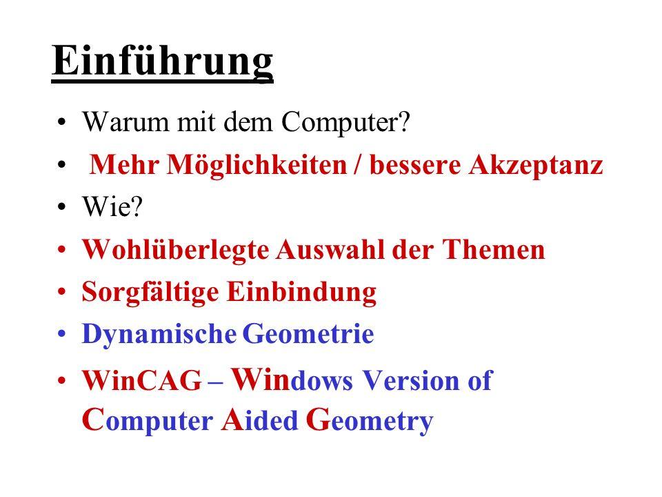 Historie (CAG WinCAG) 1984 Einfache Programme (Apple II) 1986 1.