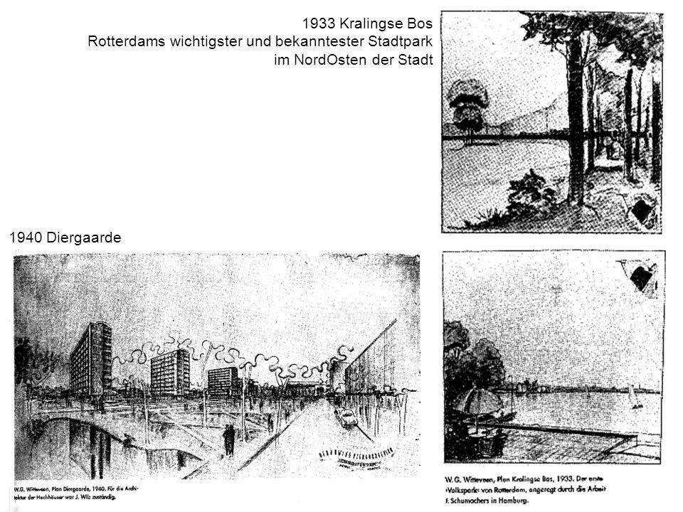 1933 Kralingse Bos Rotterdams wichtigster und bekanntester Stadtpark im NordOsten der Stadt 1940 Diergaarde