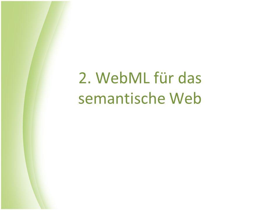 2. WebML für das semantische Web