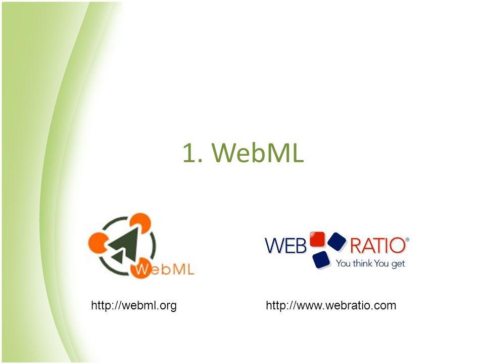 1. WebML http://webml.orghttp://www.webratio.com