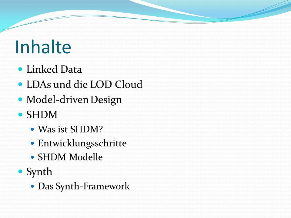 Inhalte Linked Data LDAs und die LOD Cloud Model-driven Design SHDM Was ist SHDM.