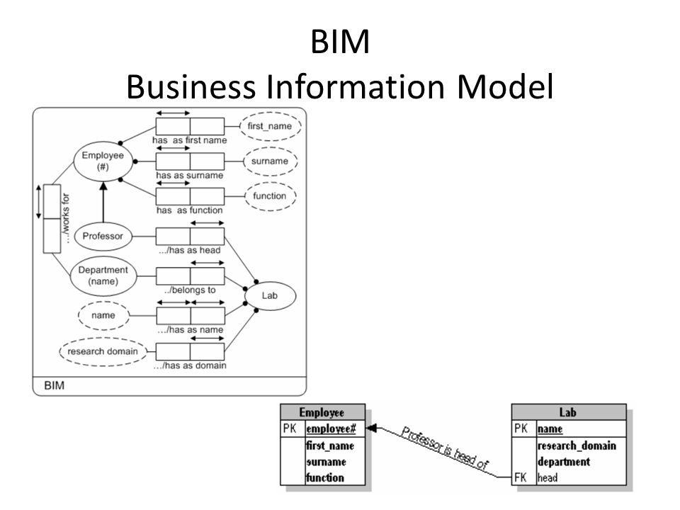 BIM Business Information Model