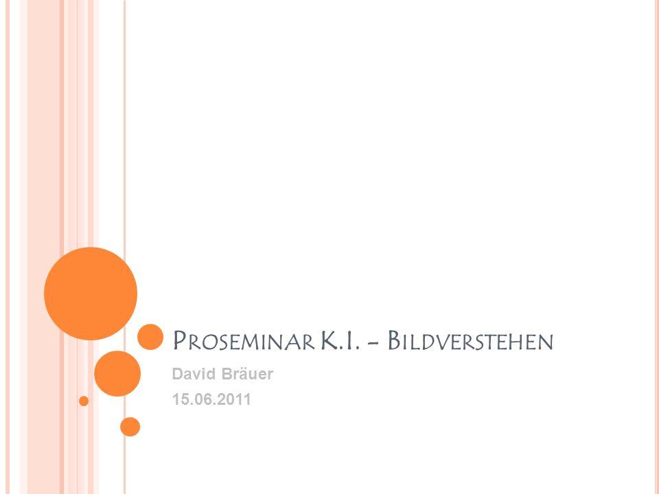 P ROSEMINAR K.I. - B ILDVERSTEHEN David Bräuer 15.06.2011