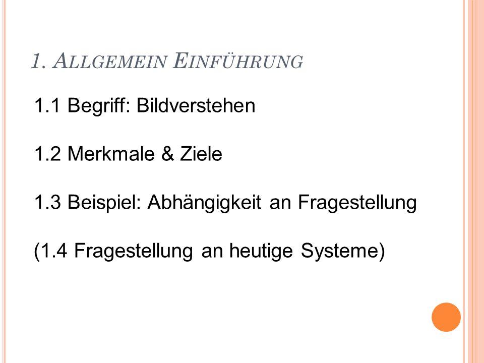 1.1 B EGRIFF : B ILDVERSTEHEN (engl.
