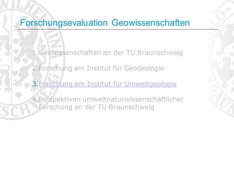 1.Geowissenschaften an der TU Braunschweig 2.Forschung am Institut für Geoökologie 3.Forschung am Institut für Umweltgeologie Forschung am Institut fü