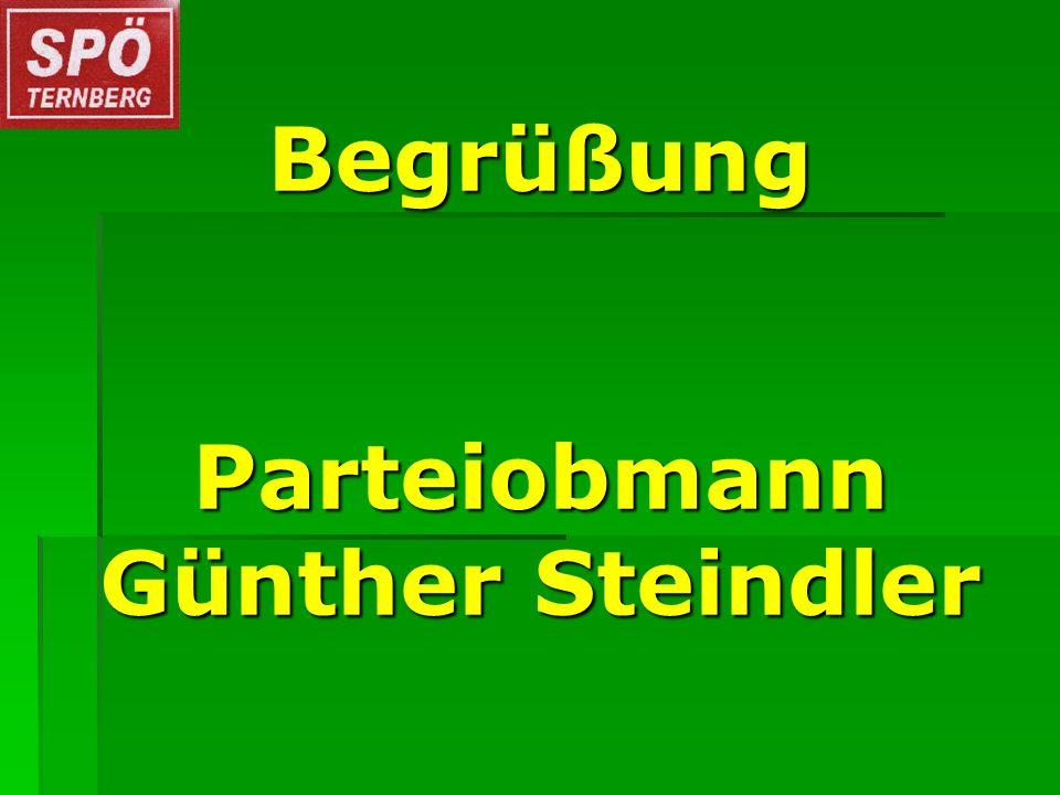 Begrüßung Parteiobmann Günther Steindler