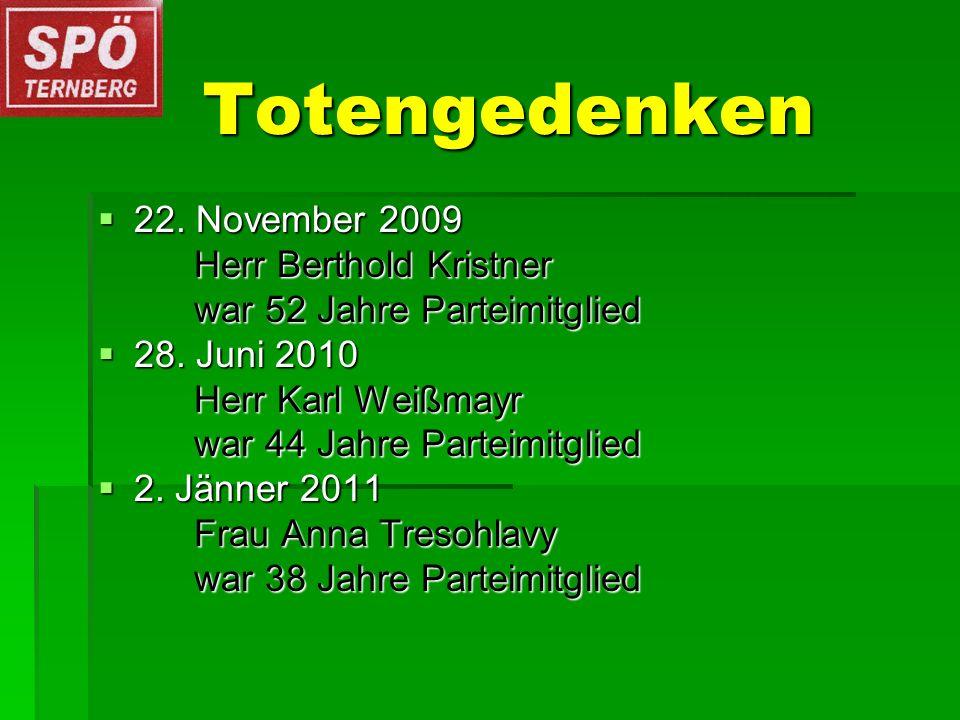 Totengedenken 22. November 2009 22.