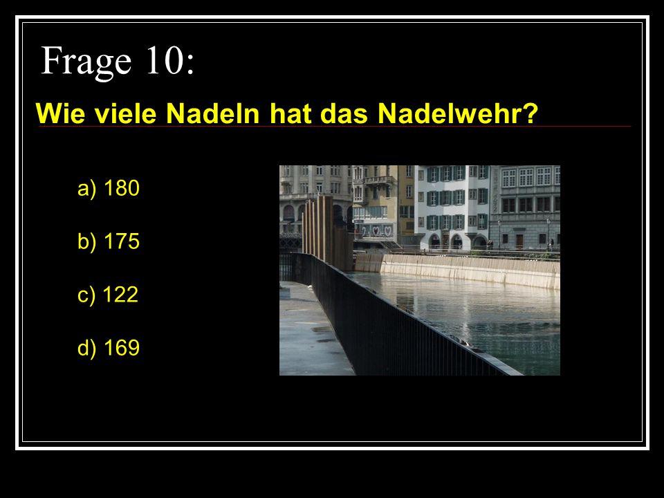 Frage 9: Welche Turmspitze ist das? a) Jesuitenkirche b) Hofkirche c) Rathaus d) Franziskaner Kirche